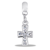 Crystal Cross Dangle Bead