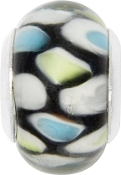 Black with Pastel Circles Bead by Amanda Blu