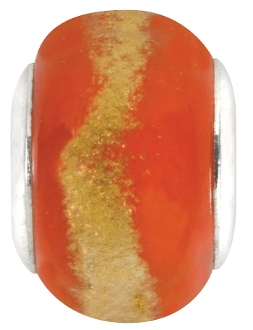 Orange Sunset Bead by Amanda Blu