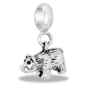 Bear Dangle Bead by DaVinci - TRUNK SALE - No Further Discounts