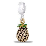 Pineapple DaVinci Dangle Bead - TRUNK SALE - No Further Discount