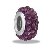 February Slim Pave Bead by DaVinci