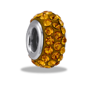November Slim Pave Bead by DaVinci