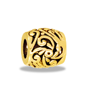 TRUNK SALE *No Further Discount* Gold Curls Bead by DaVinci