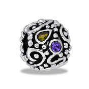 Scrolls & Twists Multi CZ Ball Bead by DaVinci