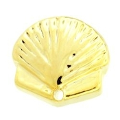 Gold Clam Charm for Lockets - TRUNK SALE NO OTHER DISCOUNT