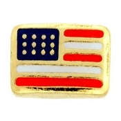 US Flag Charm For Lockets