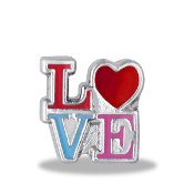 LOVE Stacked Letters Charm For Lockets