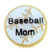 BASEBALL MOM Charm For Lockets
