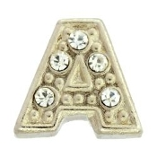 Letter Charm For Lockets-Silver (Click Options For Letter)