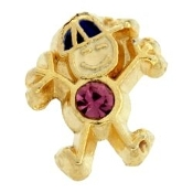 2- February Boy Birthstone Charm For Lockets