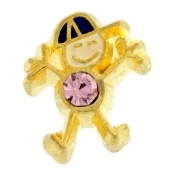 6- June Boy Birthstone Charm For Lockets