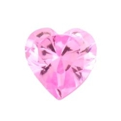 10- October Heart Birthstone Charm For Lockets