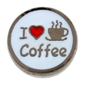 I LOVE COFFEE Charm For Lockets