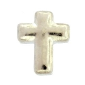 Cross Silver Charm For Lockets