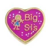 BIG SIS Heart Charm For Lockets