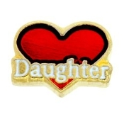 DAUGHTER Heart Charm For Lockets