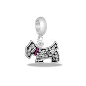 Dog Shaped Crystal Bead by DaVinci