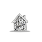 House Crystal Large Charm For Lockets