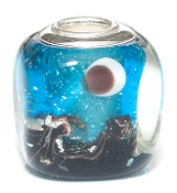 Turquoise Shore Artisan Glass Bead by Amanda Blu®