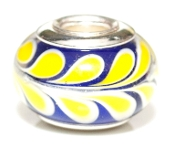 Lemon Vine Prima Glass Bead by Amanda Blu®