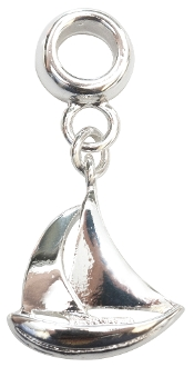 Sailboat Silver Plate Dangle by Amanda Blu®