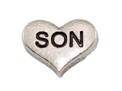 SON Silver Heart Charm For Lockets
