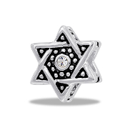 Star of David Bead  - TRUNK SALE - No Further Discounts