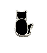 Black Cat Charm For Lockets