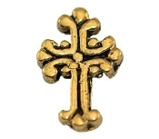 Gold Vintage Cross Charm for Locket