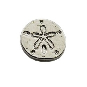 Sand Dollar Charm for Lockets
