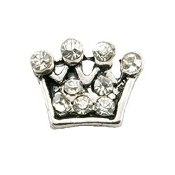Crown or Tiara with Clear Crystals Charm For Lockets