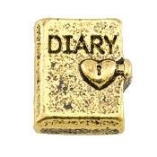 Secret Locked Diary Charm for Lockets