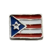 Puerto Rican Territorial Flag Charm For Lockets