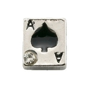 Ace of Spades Charm for Lockets