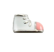 Pink Baby Shoe Charm for Lockets