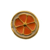 Orange Slice Charm for Lockets