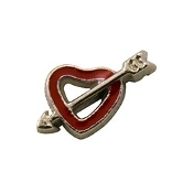 Open Heart with Arrow Charm For Lockets