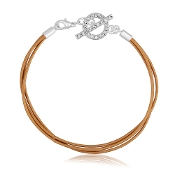 Gold Triple Cord DaVinci Braclet - Click Options for Sizes