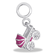 Pink Carriage Bead By DaVinci