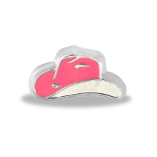 Pink Cowboy Hat Charm by Forever In My Heart® Lockets