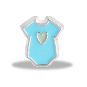 Blue Onesie Charm by Forever In My Heart® Lockets