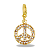 Peace Rose Gold Drop Accessory by Forever In My Heart® Lockets