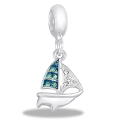 Sailboat Crystal Drop Accessory by Forever In My Heart® Lockets