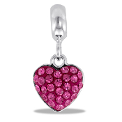 October Crystal CZ Heart DaVinci Bead