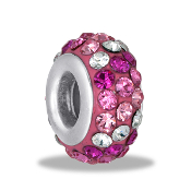 Pink Dimensional Slim Pave Bead by DaVinci