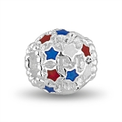 Red & Blue Stars Patriotic Crystal Bead by DaVinci®