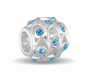 MARCH Crystal Orb Decorative Birthstone Bead by DaVinci®