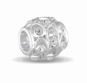 APRIL Crystal Orb Decorative Birthstone Bead by DaVinci®