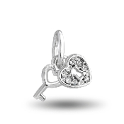 Key to My Heart Crystal Bead for DaVinci Inspirations® Jewelry